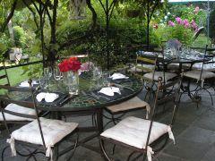 repas d'été sur la terrasse
