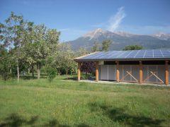Camping le Petit liou : sanitaire et production photovoltaïque