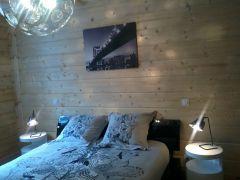 chambre hiver étage vue bois