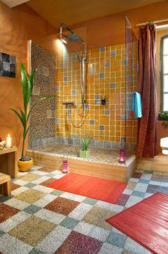 salle de bain chambre bleue