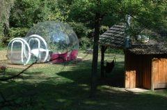 La bulle de ciel avec sa cabane en bois