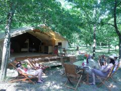 Tente Lodge Camping la Téouleyre