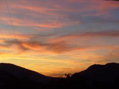Couché de soleil sur Annecy