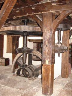 Mécanisme de la roue du moulin