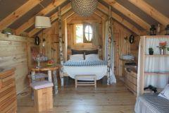 L'intérieur de la Cabane de Mathilde