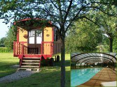 Les Roulottes de la Risle : cosy, piscine et jacuzzi