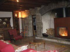 salle à manger 65 m2 cheminée