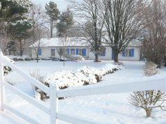 la maison blanche l'hiver