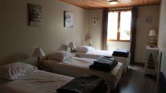 Chambre à l'étage 3 lits 90X190