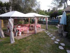 Terrasse pour petits déjeuners