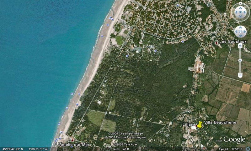 Villa Beauchene sur Google Earth