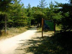 piste cyclable devant le camping