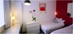 studio 1 chambre meublée avec 2 lits individuels