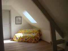 canapé-lit sur le palier