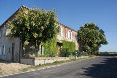 Dans la cour d'un ancien domaine viticole