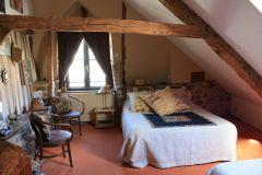 La chambre Rêves et Voyages de la Maison d'hôtes de la Porte Saint-Michel à Bécherel