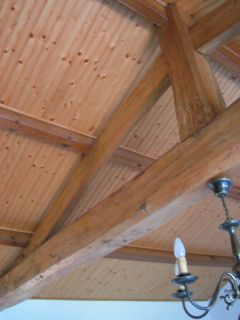 Vue du plafond du salon