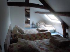 Chambre gite du haut avec ses 3 lits