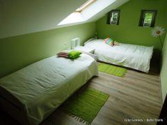 Chambre 2 lits possibilité grand lit