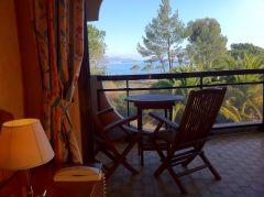 Chambre avec terrasse côté mer, Hotel Bahia, Villeneuve loubet plage
