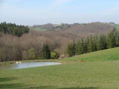 paysage coté Nord ouest du gîte