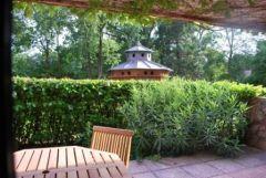 terrasse semi couverte sur parc