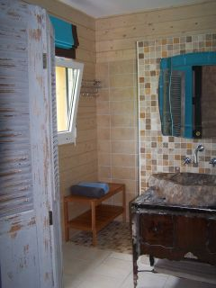 La salle de douche