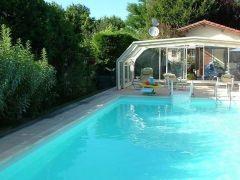 Gite bassin d'arcachon avec piscine couverte et chauffée