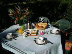 petit déjeuner chambres d'hôtes plein sud