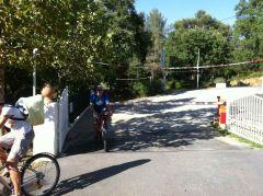 Arrivée à vélo