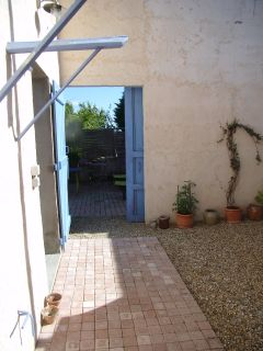 l'entrée du patio