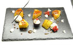 Ananas flambé, crème noix de coco
