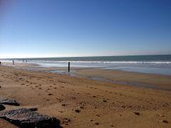 La plage d'Hauteville sur mer