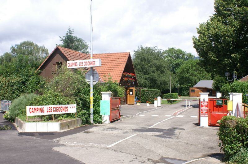 entrée principale du camping