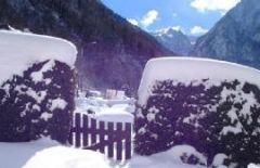Vue sur les montagnes l'hiver