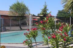 vue de la piscine avec location