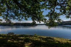 la vue sur le lac
