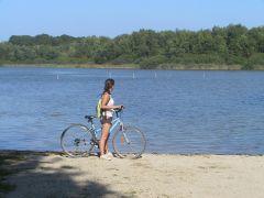 250 km de pistes cyclable la piste passe aux portes du camping