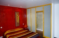 chambre contemporaine rouge