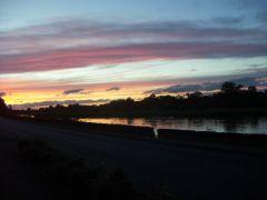 coucher de soleil sur le bras de Loire