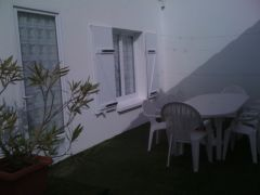 patio en gazon