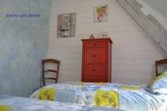 Chambre  2 lits de 90  les 3 bouleaux
