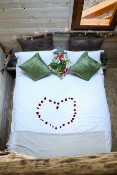 nuit romantique dans la cabane