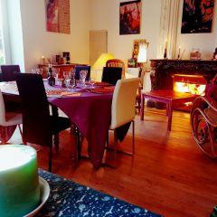 salle à manger en hiver