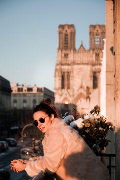 Vue Cathédrale La Demeure des Sacres Maison d'hôtes Reims