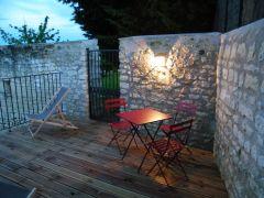 La terrasse privative, un soir d'été