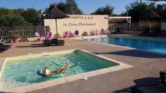 La piscine et la pataugeoire du Camping le Coin Charmant***