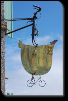 la poule à vélo