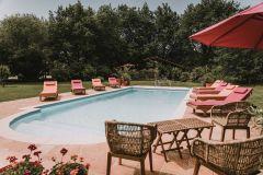 La piscine chauffée de la Cabane