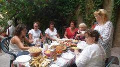 table d'hôtes en terrasse
